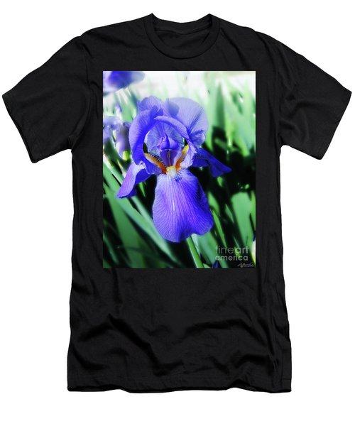 Blue Iris 2 Men's T-Shirt (Slim Fit) by Lizi Beard-Ward