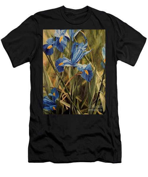 Blue Iris Men's T-Shirt (Slim Fit) by Laurie Rohner