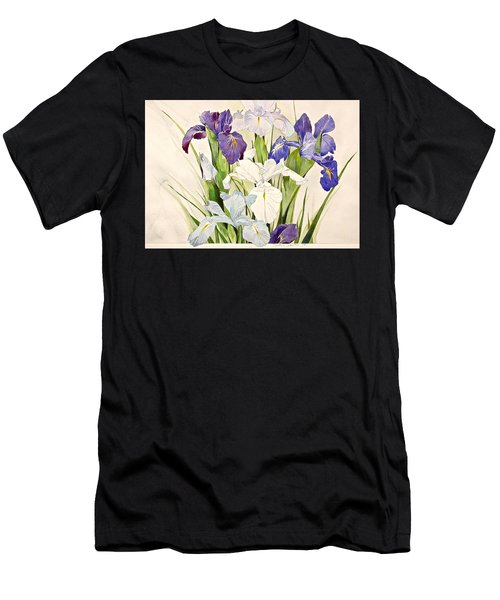 Blue Irises-posthumously Presented Paintings Of Sachi Spohn  Men's T-Shirt (Athletic Fit)