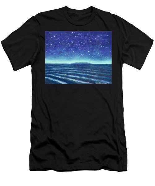 Blue Island 01 Men's T-Shirt (Athletic Fit)