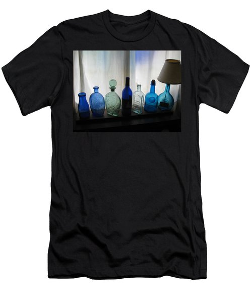 Blue Men's T-Shirt (Slim Fit) by John Scates