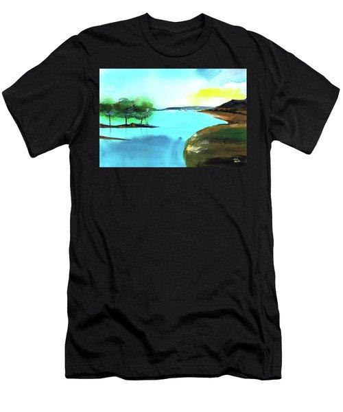 Blue Lake Men's T-Shirt (Athletic Fit)