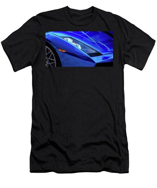 Blue Lamboghini Men's T-Shirt (Athletic Fit)