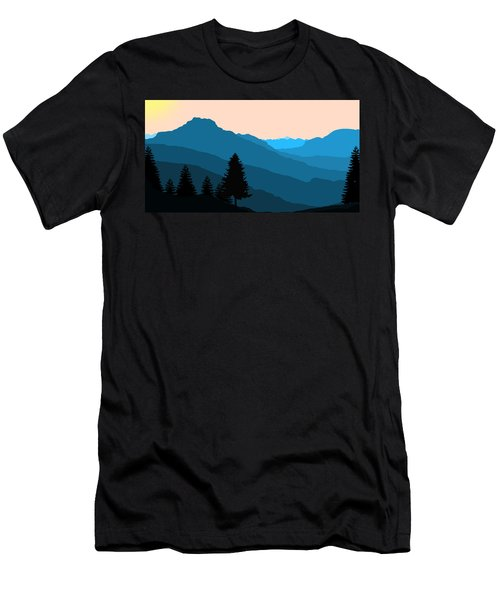 Blue Landscape Men's T-Shirt (Athletic Fit)