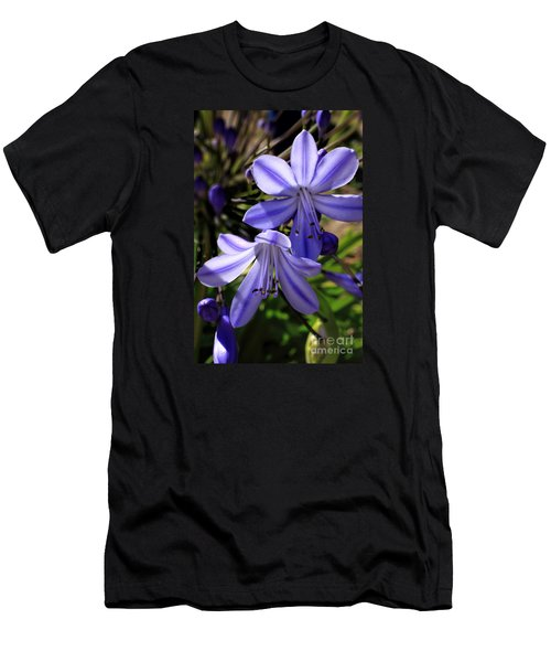 Blue Lily Men's T-Shirt (Athletic Fit)