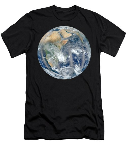 Blue Marble 2012 - Eastern Hemisphere Of Earth Men's T-Shirt (Slim Fit) by Nikki Marie Smith