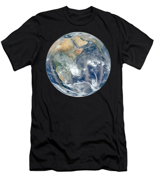 Blue Marble 2012 - Eastern Hemisphere Of Earth Men's T-Shirt (Athletic Fit)