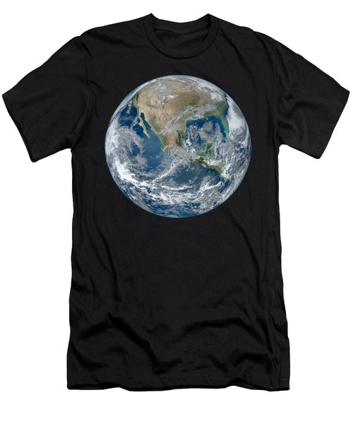 Blue Marble 2012 Planet Earth Men's T-Shirt (Athletic Fit)