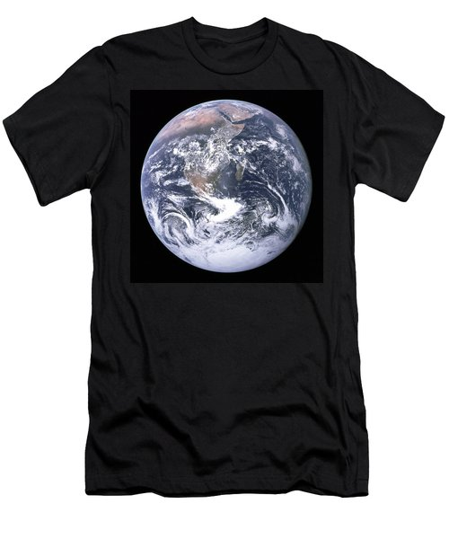 Blue Marble - Image Of The Earth From Apollo 17 Men's T-Shirt (Athletic Fit)