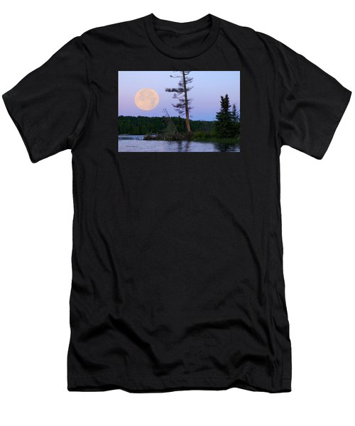 Men's T-Shirt (Slim Fit) featuring the photograph Blue Moon At Sunrise by Steven Clipperton