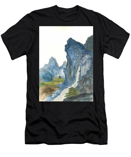 Blue Mountain Morning Men's T-Shirt (Athletic Fit)