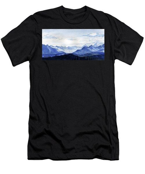 Blue Mountains Men's T-Shirt (Athletic Fit)