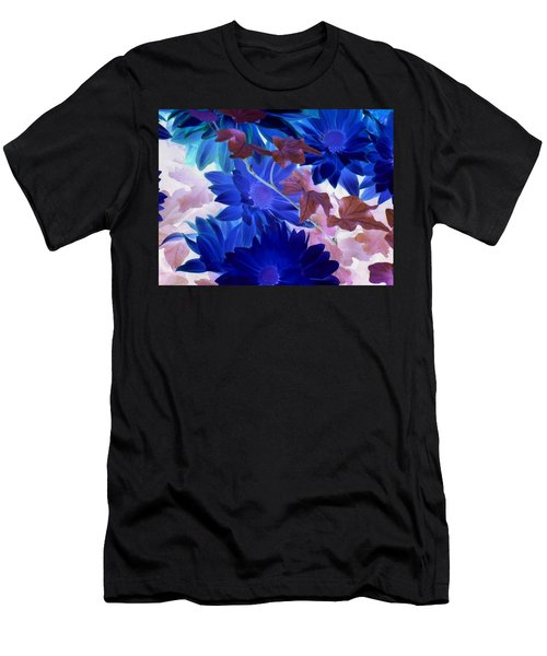 Blue Mums With Purple Ivy Men's T-Shirt (Athletic Fit)