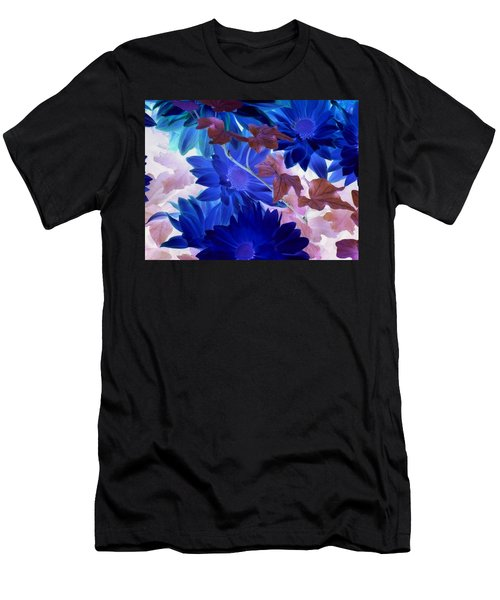 Blue Mums With Purple Ivy Men's T-Shirt (Athletic Fit)