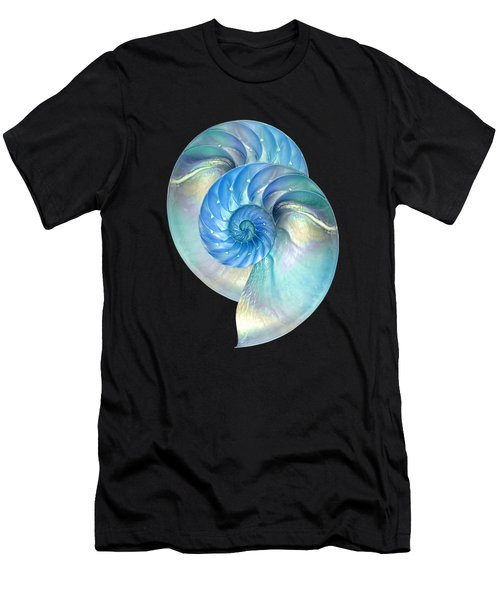Blue Nautilus Pair Men's T-Shirt (Athletic Fit)