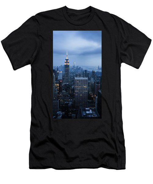 Blue New York Men's T-Shirt (Athletic Fit)