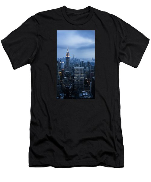 Blue New York Men's T-Shirt (Athletic Fit)