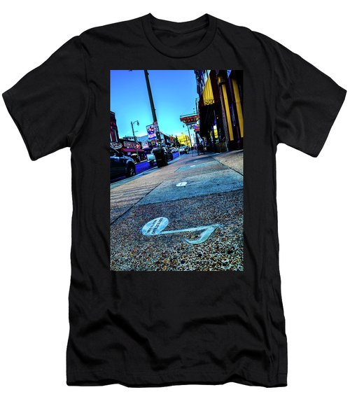 Blue Notes On Beale Men's T-Shirt (Athletic Fit)