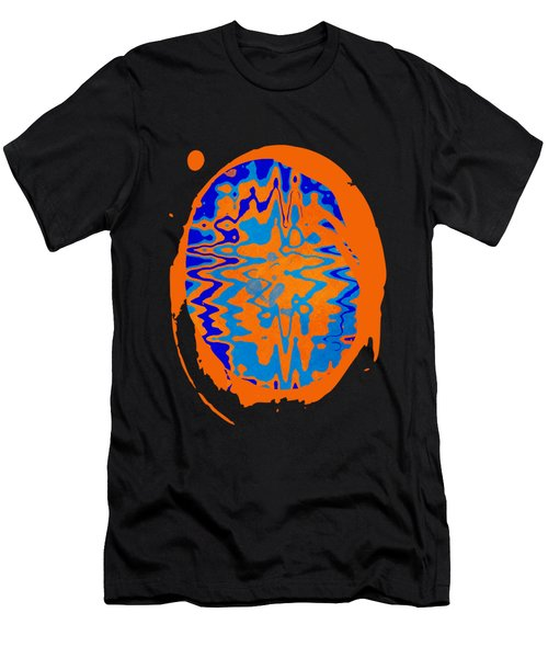 Blue Orange Abstract Art Men's T-Shirt (Athletic Fit)