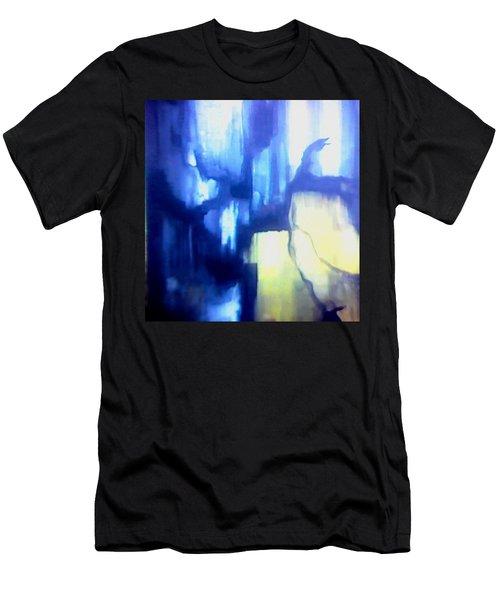 Blue Patterns Men's T-Shirt (Athletic Fit)
