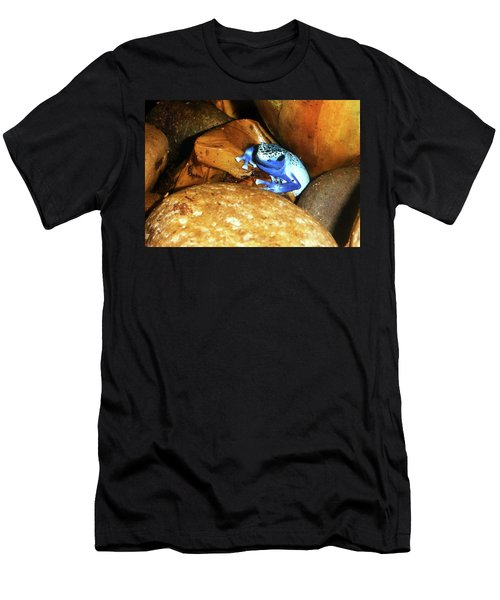 Men's T-Shirt (Slim Fit) featuring the photograph Blue Poison Dart Frog by Anthony Jones