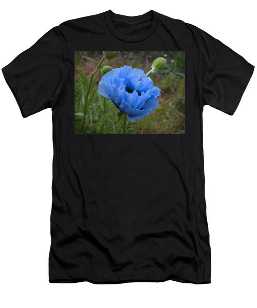 Men's T-Shirt (Athletic Fit) featuring the digital art Blue Poppy by Paul Gulliver