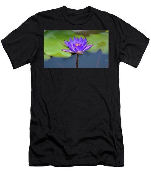 Blue Purple And Orange Water Lily Men's T-Shirt (Athletic Fit)