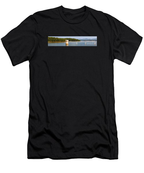 Blue Ridge Dam - Panoramic Men's T-Shirt (Athletic Fit)