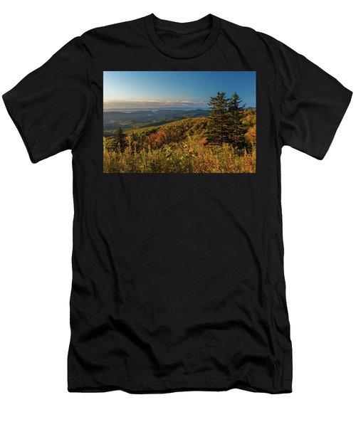 Blue Ridge Mountain Autumn Vista Men's T-Shirt (Athletic Fit)