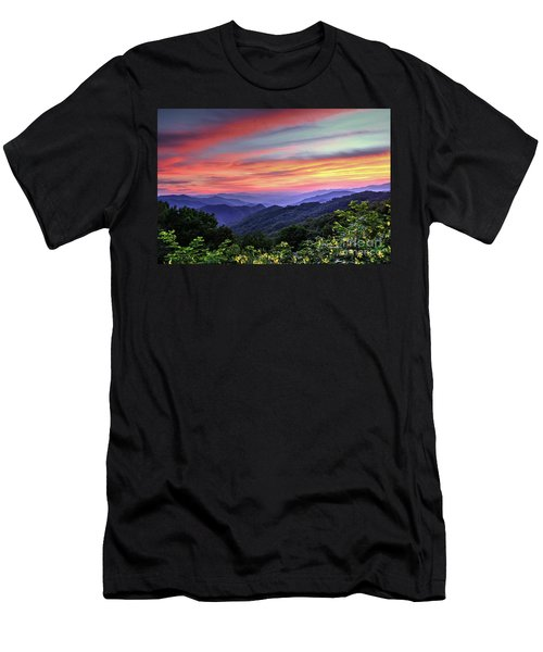Blue Ridge Mountain Color Men's T-Shirt (Athletic Fit)