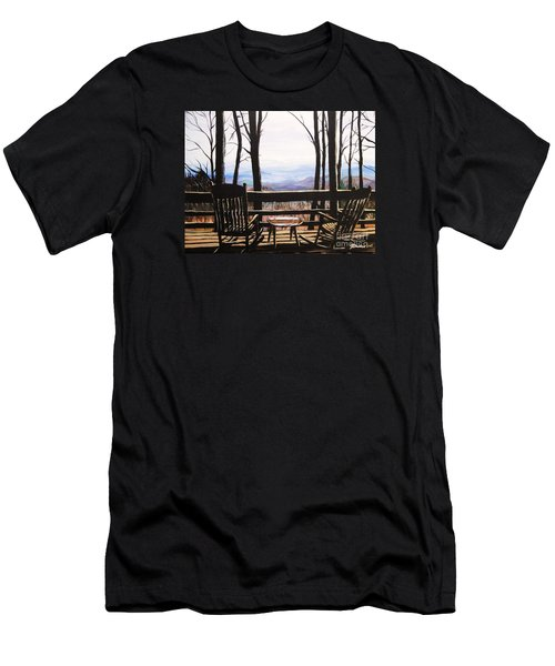 Blue Ridge Mountain Porch View Men's T-Shirt (Athletic Fit)
