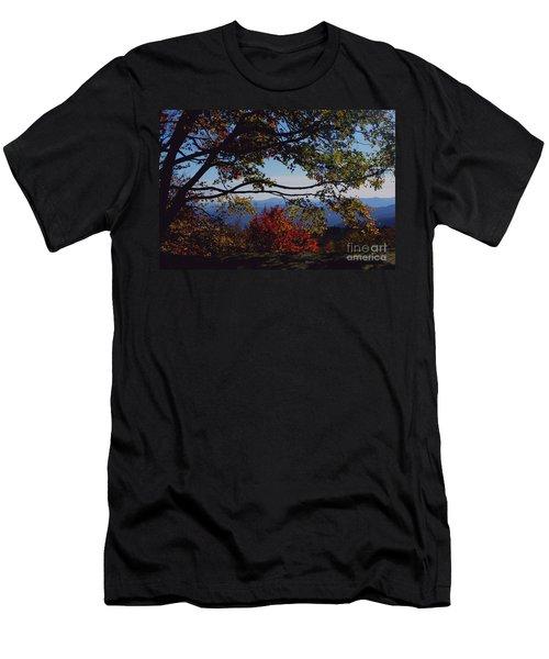 Blue Ridge Mountain View Men's T-Shirt (Athletic Fit)