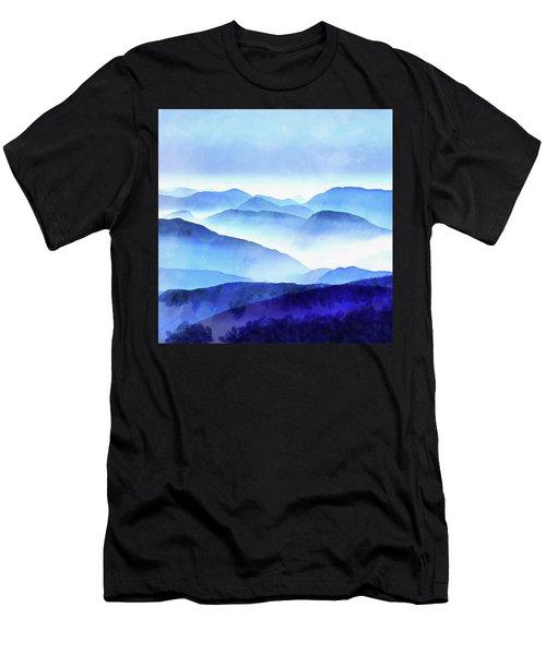 Blue Ridge Mountains Men's T-Shirt (Athletic Fit)