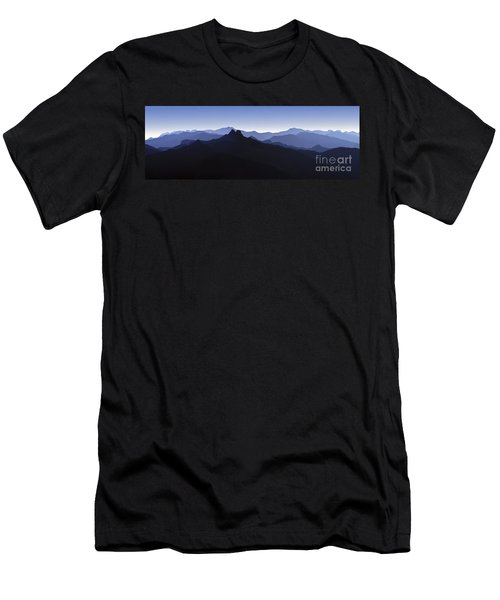 Men's T-Shirt (Slim Fit) featuring the photograph Blue Ridge Mountains. Pacific Crest Trail by David Zanzinger
