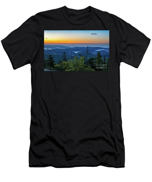 Blue Ridge Mountains Sunrise Men's T-Shirt (Athletic Fit)