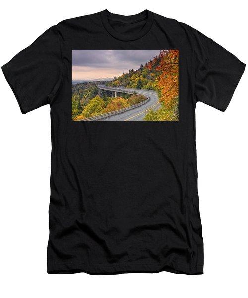 Lynn Cove Viaduct-blue Ridge Parkway  Men's T-Shirt (Athletic Fit)