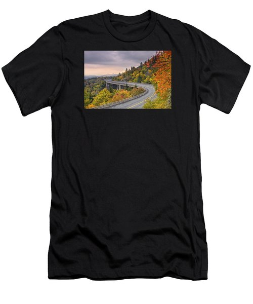 Lynn Cove Viaduct-blue Ridge Parkway  Men's T-Shirt (Athletic Fit)