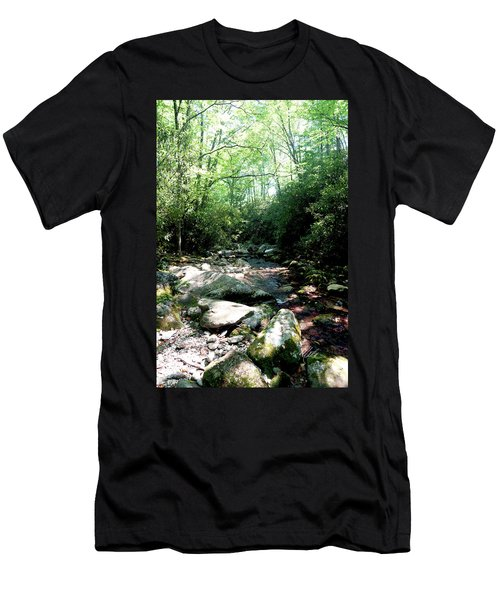 Men's T-Shirt (Slim Fit) featuring the photograph Blue Ridge Parkway Stream by Meta Gatschenberger