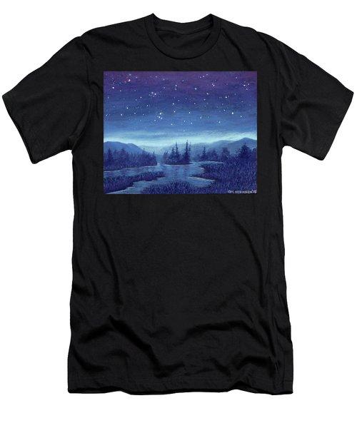 Blue River 01 Men's T-Shirt (Athletic Fit)