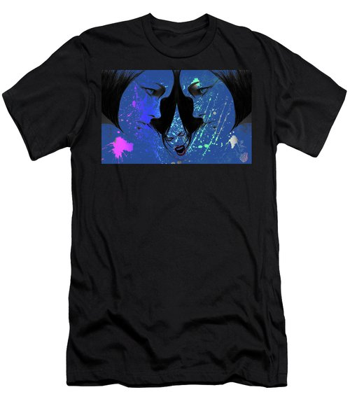 Men's T-Shirt (Slim Fit) featuring the digital art Blue Screamer by Greg Sharpe