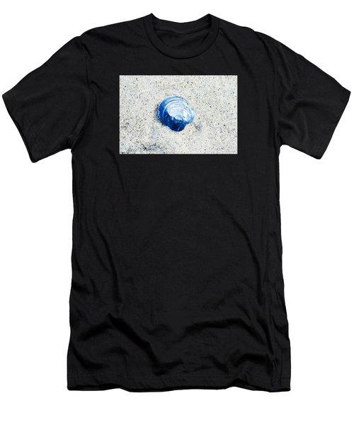 Blue Seashell By Sharon Cummings Men's T-Shirt (Athletic Fit)