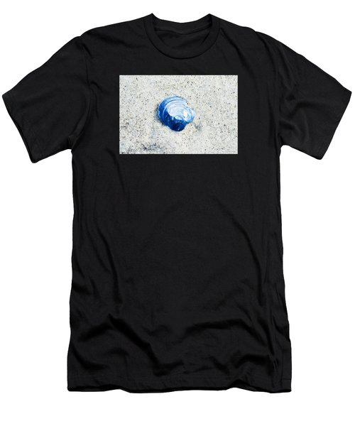 Blue Seashell By Sharon Cummings Men's T-Shirt (Athletic Fit)