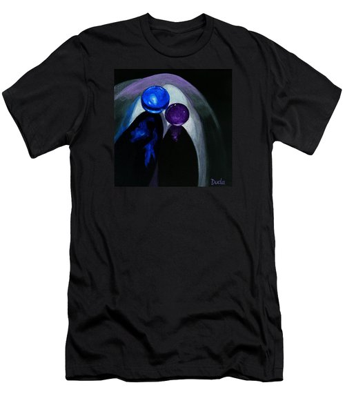 Blue Shooter Amethyst Aggie Men's T-Shirt (Slim Fit) by Susan Duda