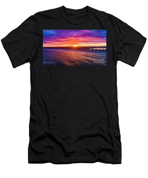 Blue Shutter East Beach Men's T-Shirt (Athletic Fit)