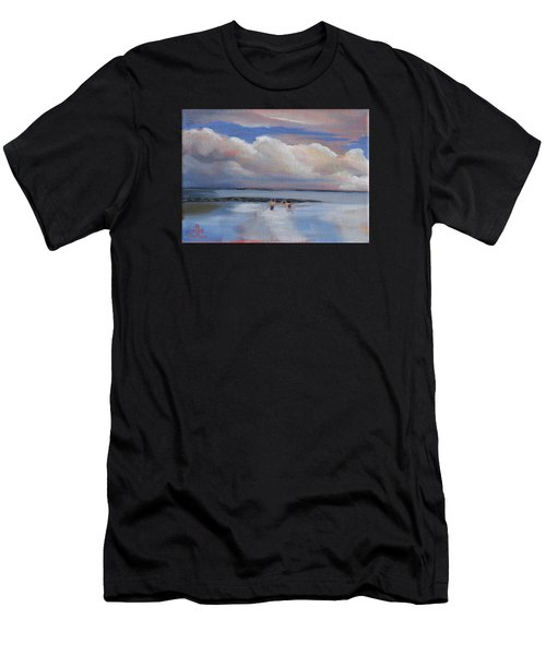 Blue Sky And Clouds I Men's T-Shirt (Athletic Fit)