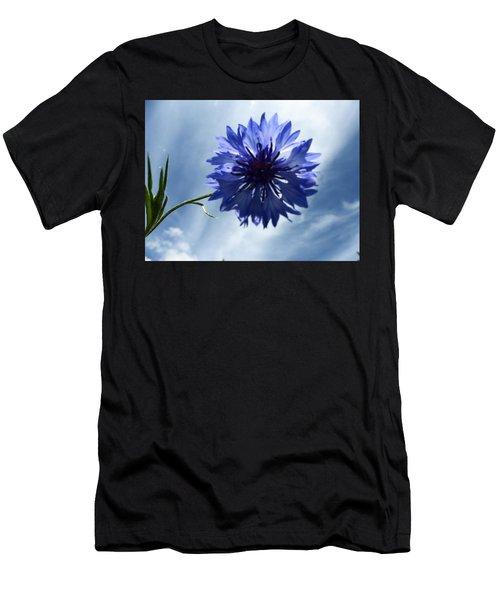 Blue Sky Blue Flower Men's T-Shirt (Athletic Fit)