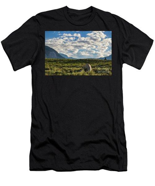 Blue Sky Monmouth  Men's T-Shirt (Athletic Fit)