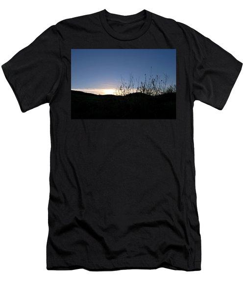 Blue Sky Silhouette Landscape Men's T-Shirt (Athletic Fit)