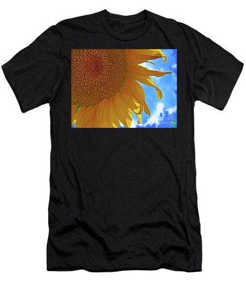 Blue Sky Sunflower Men's T-Shirt (Athletic Fit)