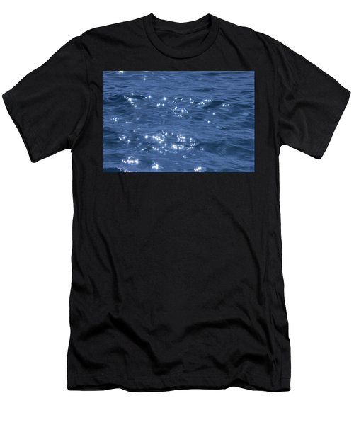 Men's T-Shirt (Athletic Fit) featuring the photograph Blue Sparkling Water by RKAB Works